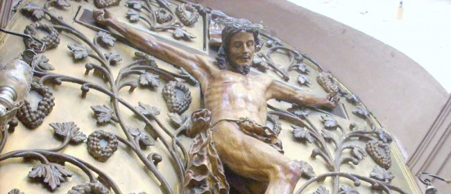 Il Crocifisso della chiesa di San Calcedonio di Mazara del Vallo.