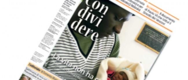 La copertina del nuovo numero di Condividere.
