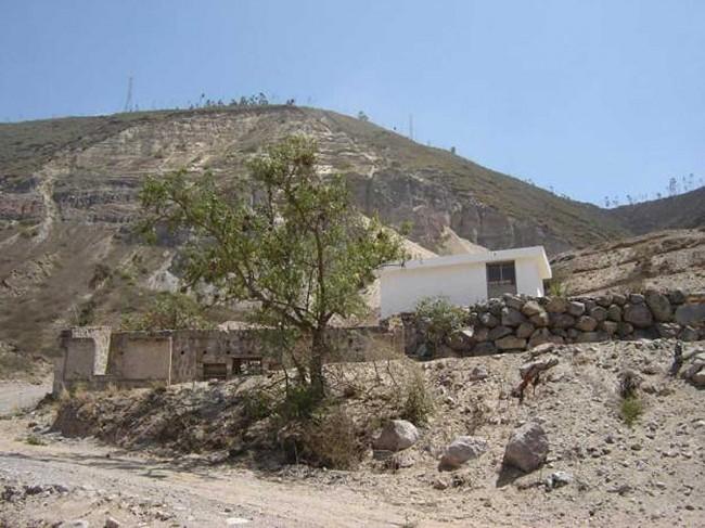 Una panoramica di una zona di Pomasqui.