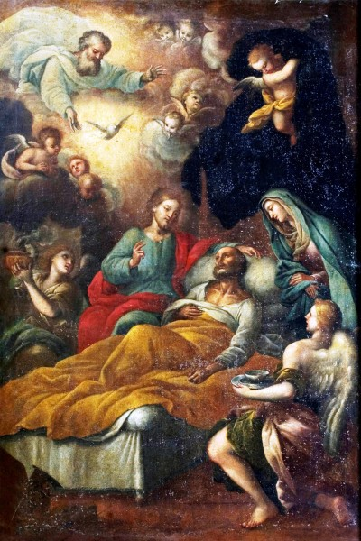 """Il """"Transito di San Giuseppe""""."""