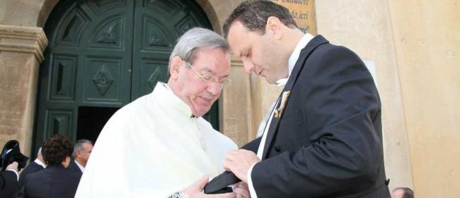 Padre Pietro Accardi con Nino Centonze.