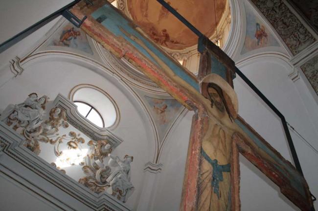 Un particolare dell'interno della Cattedrale di Mazara del Vallo.