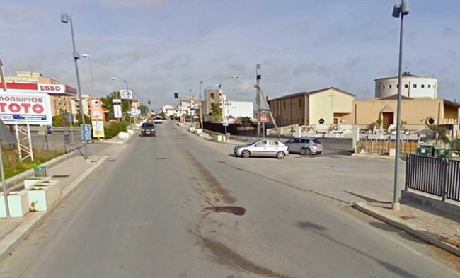 Una veduta del quartiere Belvedere. Sulla destra la parrocchia Santa Lucia.
