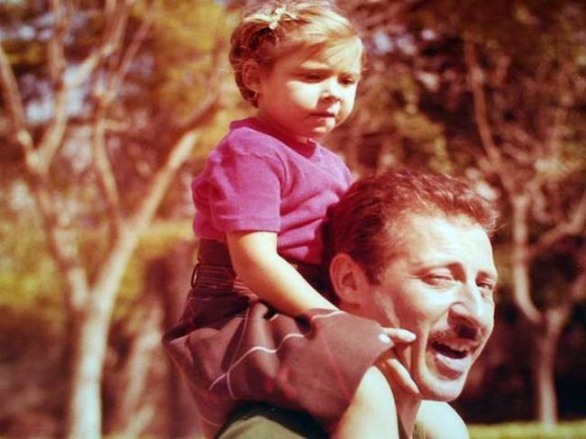 Paolo Borsellino con la figlia Fiammetta.