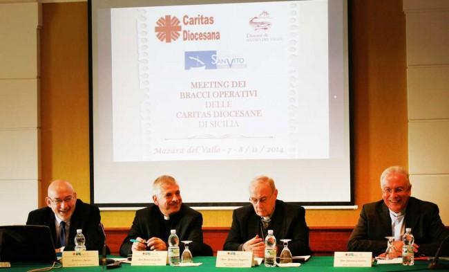 Francesco Marsico, don Francesco Soddu, monsignor Mogavero e don Enzo Cosentino.