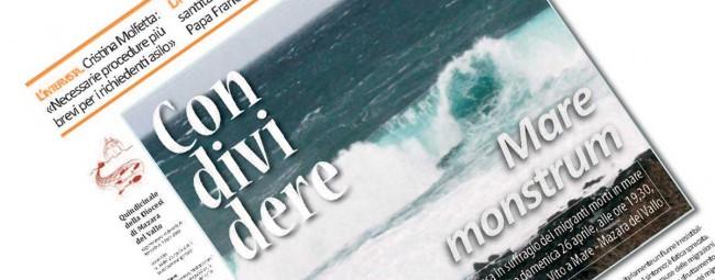 La copertina del numero di Condividere del 26 aprile.