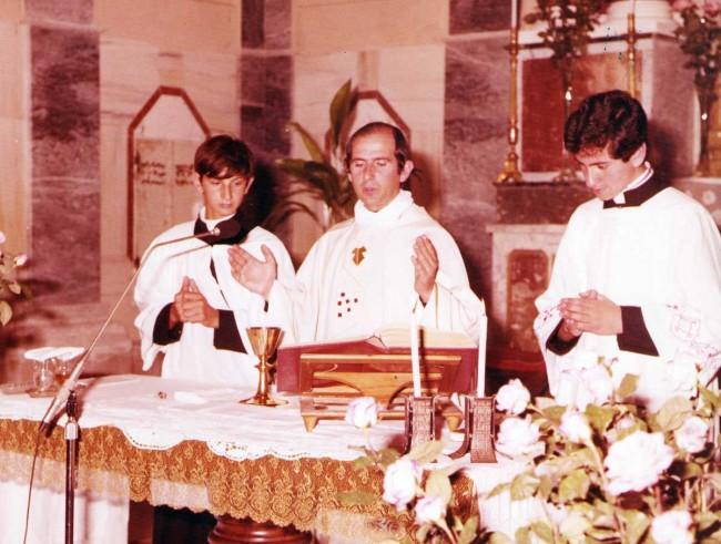 Don Pino e i seminaristi Gaspare Bonfiglio e Gaspare Tortorici.