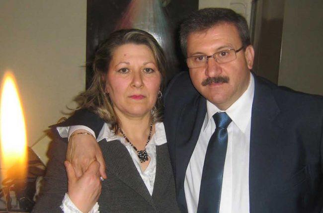 Mimmo Errante con sua moglie.