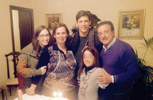 Gloria, Clara, Giorgio, Iginio e Giada Terranova.
