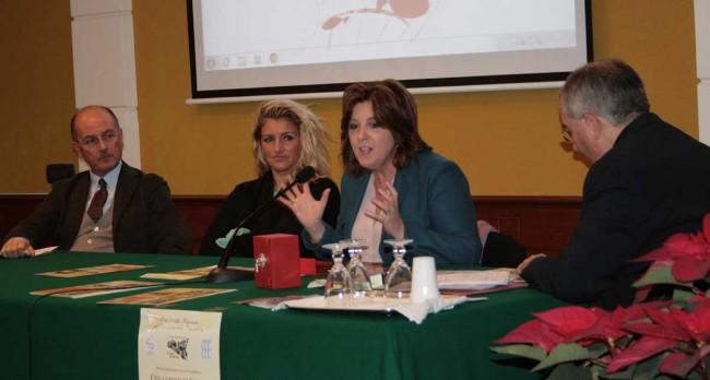 Il procuratore Bernardo Petralia, l'onorevole Sonia Alfano e Marianna Sgarlata, assessore regionale ai beni culturali.