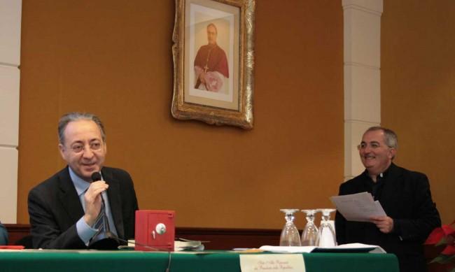 Il prefetto di Trapani Leopoldo Falco e don Francesco Fiorino.
