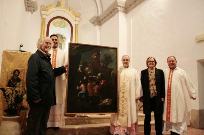 Italo Cucci, don Vincenzo Greco, monsignor Domenico Mogavero, Grazia Cucci e don Salvatore Cipri.