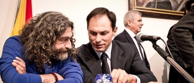 Il vice questore Giuseppe Linares con Salvatore Inguì di Libera Trapani (foto Flavio Leone)