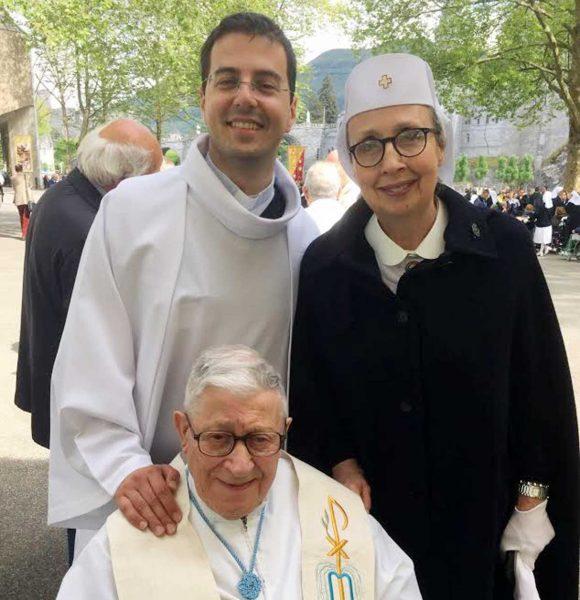 Don Davide Chirco, Angela Alagna e monsignor Antonino Bellissima.