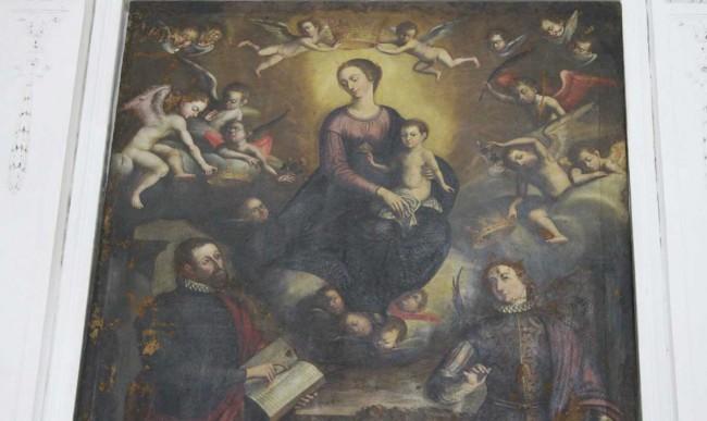 Una delle tele della Cappella dei Ss. Crispino e Crispiniano.
