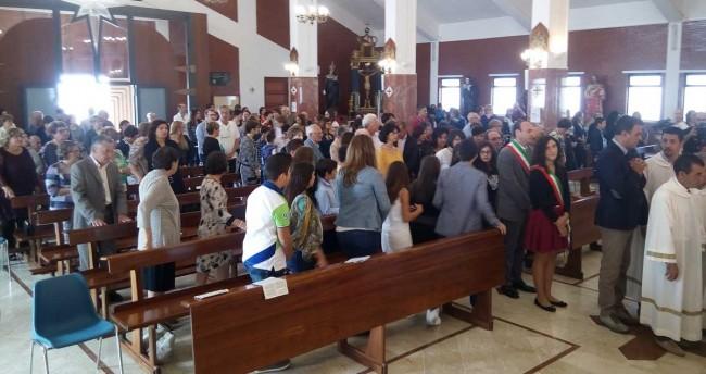 L'accoglienza in chiesa.