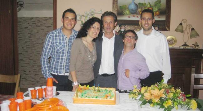 Don Nicola con la sua famiglia.