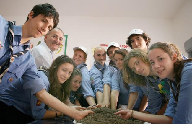 Il gruppo scout di Padova, ospiti due anni addietro della Fondazione.
