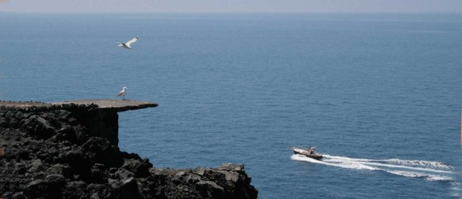 Uno scorcio del mare Mediterraneo visto da punta Spadillo a Pantelleria.
