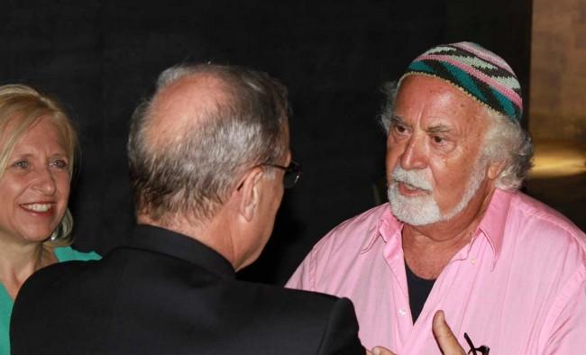 Il giornalista Italo Cucci, ospite della cena di beneficenza.