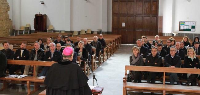 Il ritiro coi politici nella parrocchia Ss. Annunziata a Castelvetrano.