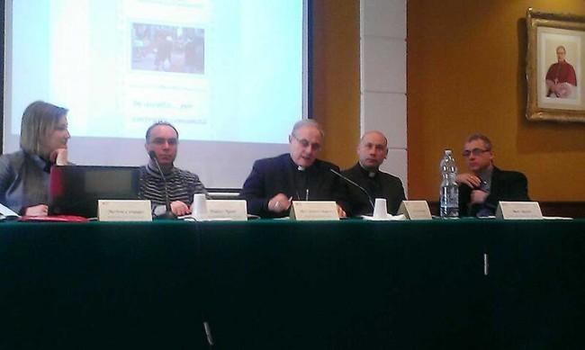 Il momento della presentazione dei dati del Report in Seminario vescovile.