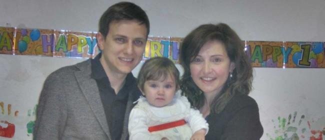Gian Piero con la moglie e sua figlia.