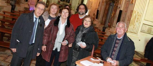 Alcuni degli adoratori del Santissimo Sacramento.