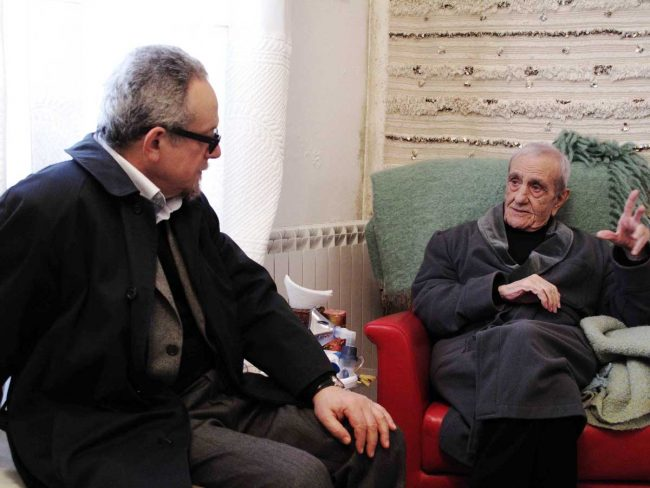 Il maestro Modica col senatore Ludovico Corrao.