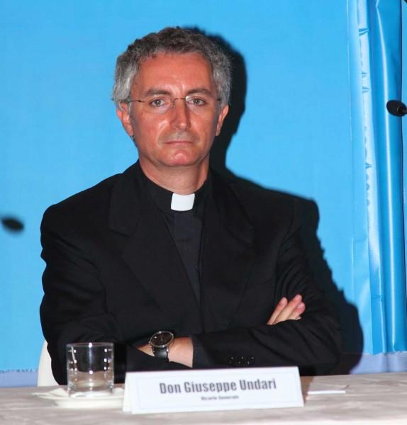 Don Giuseppe Undari, Vicario uscente.