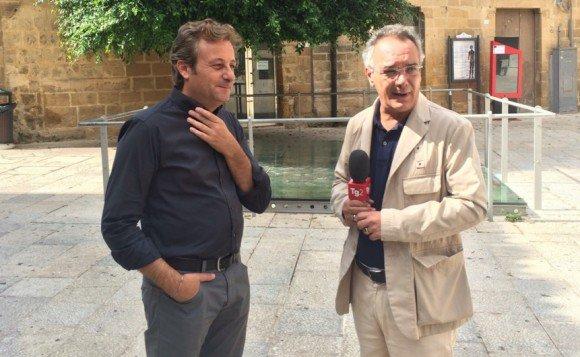 Vitale col sindaco di Castelvetrano, Felice Errante.