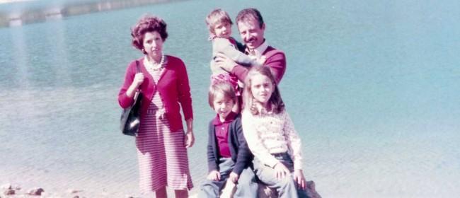 Paolo Borsellino con la sua famiglia.