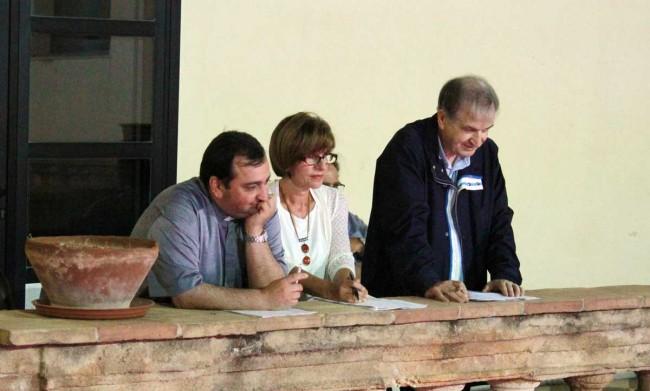 Don Giuseppe Licciardi, Anna Maria Sollima e don Giosy Cento: la giuria della prima edizione del festival.