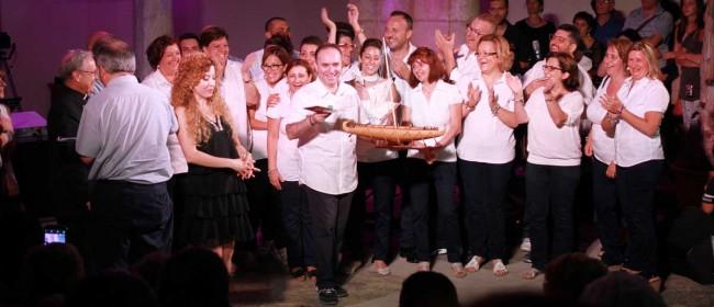 """La corale """"Santa Rosalia"""" di Mazara del Vallo che ha vinto la prima edizione del festival."""
