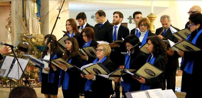 Il coro della parrocchia Maria Ss. Immacolata di Poggioreale.