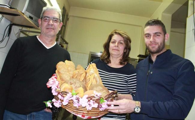 Luciano, Jeannine Marceca e il figlio Pietro.