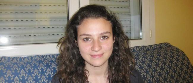 Valentina La Rosa, pronipote di don Pino Puglisi. La mamma di Valentina, Giuseppina Puglisi, è figlia di Gaetano, fratello di don Puglisi.