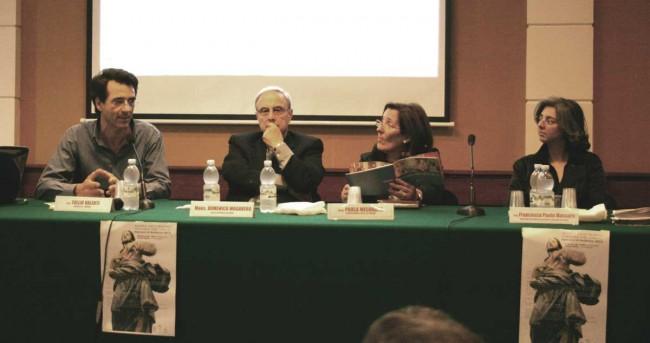Tullio Valenti, monsignor Domenico Mogavero, Paola Misuraca e Francesca Massara.