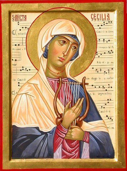 Santa Cecilia, protettrice dei musicisti.